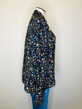 Load image into Gallery viewer, CHANEL Navy Blue Print Blouse Size 42