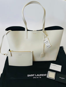 Saint Laurent Porcellana Leather Sac Shopping Bag