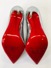 Load image into Gallery viewer, Christian Louboutin Silver Leather So Kate 120 Pumps size 39 1/2