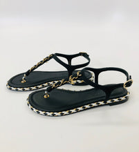 Load image into Gallery viewer, CHANEL Flat Thong Sandals Size 35C