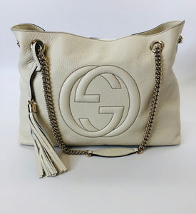 Gucci Mystic White Soho Tote Bag