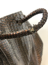 Load image into Gallery viewer, Nancy Gonzalez Chocolate Python Tote Bag