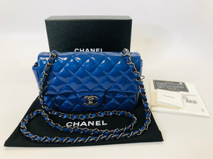 CHANEL Blue Classic Mini Flap Bag