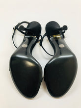 Load image into Gallery viewer, Dolce and Gabbana Satin and Crystal Sandals Size 37 1/2