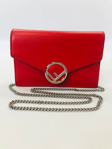 Fendi Red Wallet On A Chain