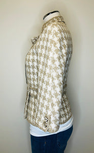 CHANEL Houndstooth Tweed Jacket size 36