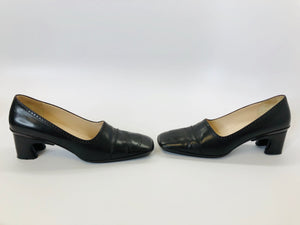 CHANEL Brown Leather Pumps Size 38