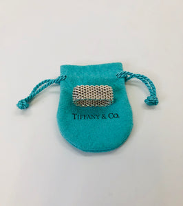 Tiffany & Co. Sterling Silver Somerset Mesh Ring Size 6
