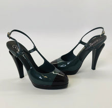 Load image into Gallery viewer, CHANEL Color Block Slingback Pumps size 39