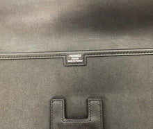 Load image into Gallery viewer, Hermès Noir Swift Jige Elan 29 Clutch