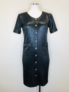 CHANEL Black Short Sleeve Dress Size 36
