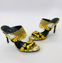 Load image into Gallery viewer, Versace Baroque Print Tribute 95 Mules Size 36