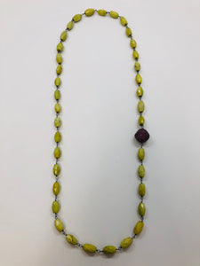 Rainey Elizabeth Green Turquoise and Ruby Necklace