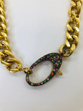 Load image into Gallery viewer, Rainey Elizabeth Sapphire and Brass Necklace