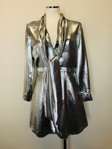 Saint Laurent Argent Metallic Dress Size 38