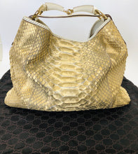 Load image into Gallery viewer, Gucci Large Python Horsebit Hobo