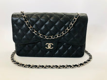 Load image into Gallery viewer, CHANEL Black Caviar Leather Large Classic Double Flap Bag