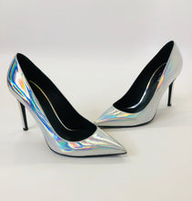 Load image into Gallery viewer, Balmain Iridescent Silver Pumps size 38 1/2
