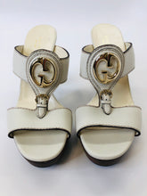 Load image into Gallery viewer, Gucci 1973 Wooden Platform Sandals Size 38 1/2