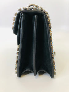 Gucci Crystal Embellished Black Small Dionysus Bag