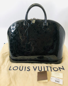 Louis Vuitton Black Monogram Vernis Alma GM Bag