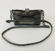 Load image into Gallery viewer, Nancy Gonzalez Silver Crocodile Crossbody Bag