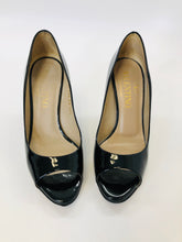 Load image into Gallery viewer, Valentino Garavani Black Peep Toe Pumps Size 36 1/2