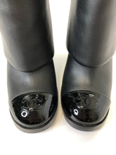 Load image into Gallery viewer, CHANEL Black CC Toe Boots Size 38