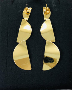 Ippolita Wavy Dangle Gold Earrings