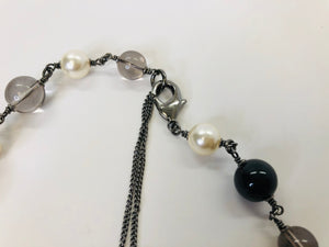 CHANEL Long Pearl and CC Chain Necklace