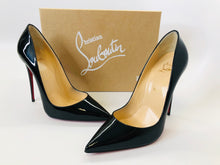 Load image into Gallery viewer, Christian Louboutin Black Patent Leather So Kate 120 Pumps size 40