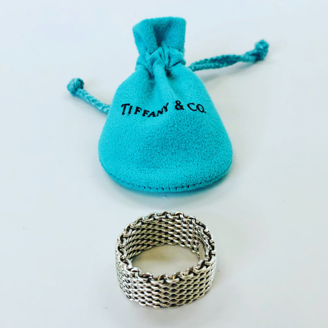 Tiffany & Co. Somerset Mesh Ring Size 7