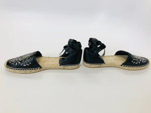 Saint Laurent Lace Up Espadrilles Size 36 1/2