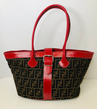 Load image into Gallery viewer, Fendi Zucca Buckle Tote Bag