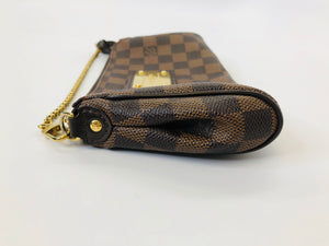 Louis Vuitton Ebene Damier Coated Canvas Eva Clutch