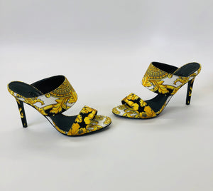 Versace Baroque Print Tribute 95 Mules Size 36