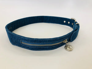 Istante Versace Denim and Silver Belt Size 80/32 = XS