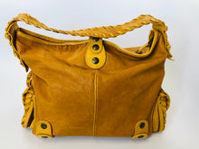 Load image into Gallery viewer, Chloe Tan Leather With Brass Hardware Silverado Shoulder Bag