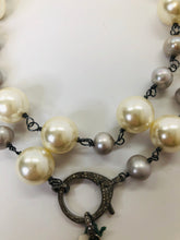 Load image into Gallery viewer, Rainey Elizabeth White and Grey Pearl Long Necklace
