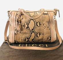 Load image into Gallery viewer, Gucci Blush Python Bella Satchel with Crossbody Strap