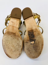 Load image into Gallery viewer, CHANEL Laminated Lambskin CC Thong Sandals size 37 1/2