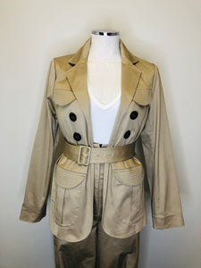 Alexis Tan and Black Elka Jacket Size Small