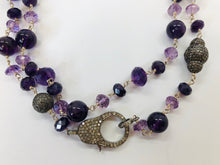 Load image into Gallery viewer, Rainey Elizabeth Amethyst and Diamond Necklace