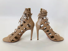 Load image into Gallery viewer, Aquazzura Amazon Nude Leather Sandals Size 39 1/2