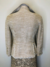 Load image into Gallery viewer, CHANEL Beige and Ivory Double Breasted Jacket size 36