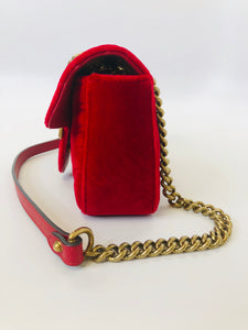 Gucci Red Marmont Mini Flap Bag