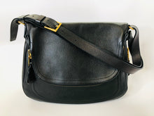 Load image into Gallery viewer, Tom Ford Black Grained Leather Large Jennifer Cross Body Bag