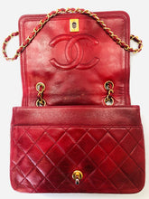 Load image into Gallery viewer, CHANEL Red Leather Vintage Flapbag