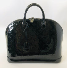 Load image into Gallery viewer, Louis Vuitton Black Monogram Vernis Alma GM Bag