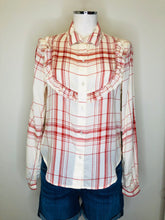 Load image into Gallery viewer, Frame Button Down Ruffle Front Shirt Size Large